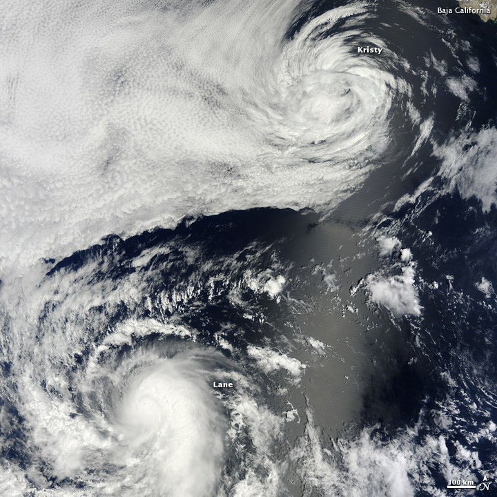 Kristy and Lane over the Eastern Pacific