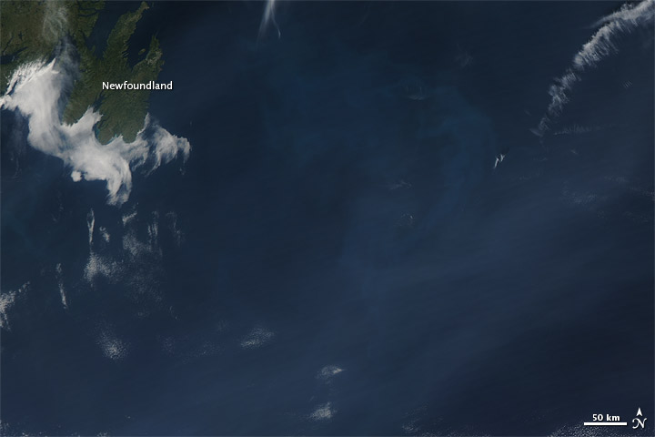 Wildfire Smoke over the Atlantic Ocean