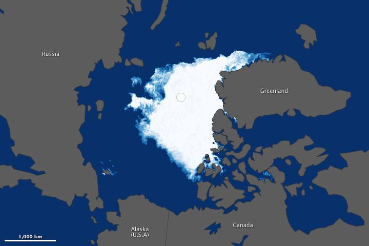 Visualizing the 2012 Sea Ice Minimum
