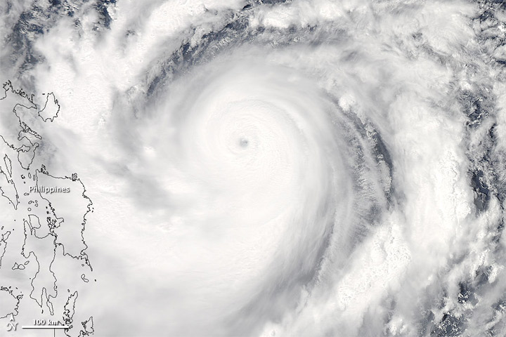 Super Typhoon Jelawat off the Philippines