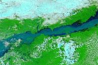 Flooding along the Brahmaputra River