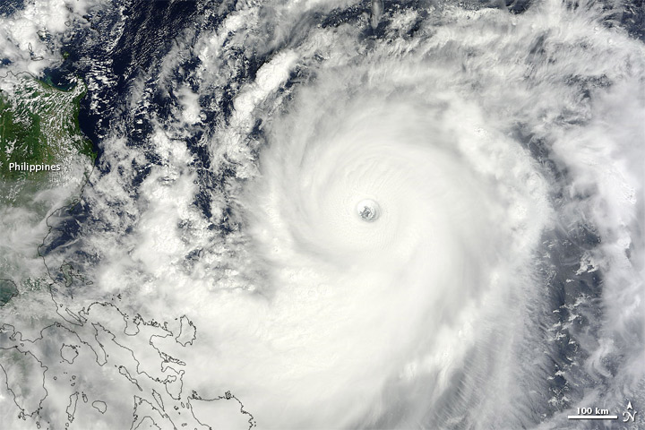 Typhoon Jelawat East of the Philippines
