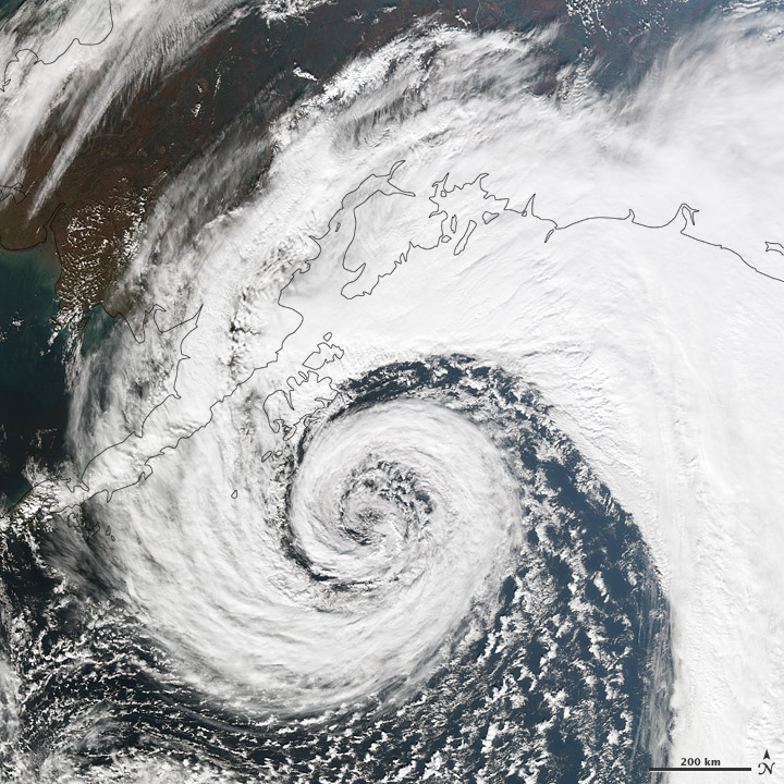 Strong Storm Approaches Alaskan Coast