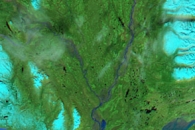 Flooding along the Susitna River