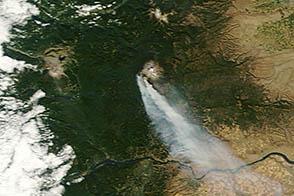 Cascade Creek Fire in Washington