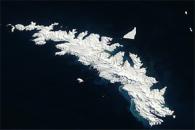 Icebergs around South Georgia