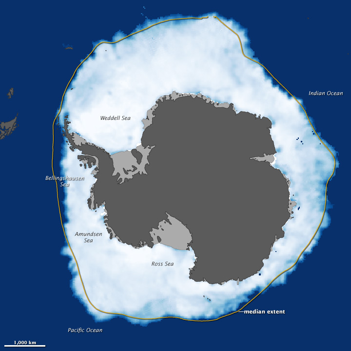 New Record Sea Ice Extent in Antarctica 2012 NASA NSIDC