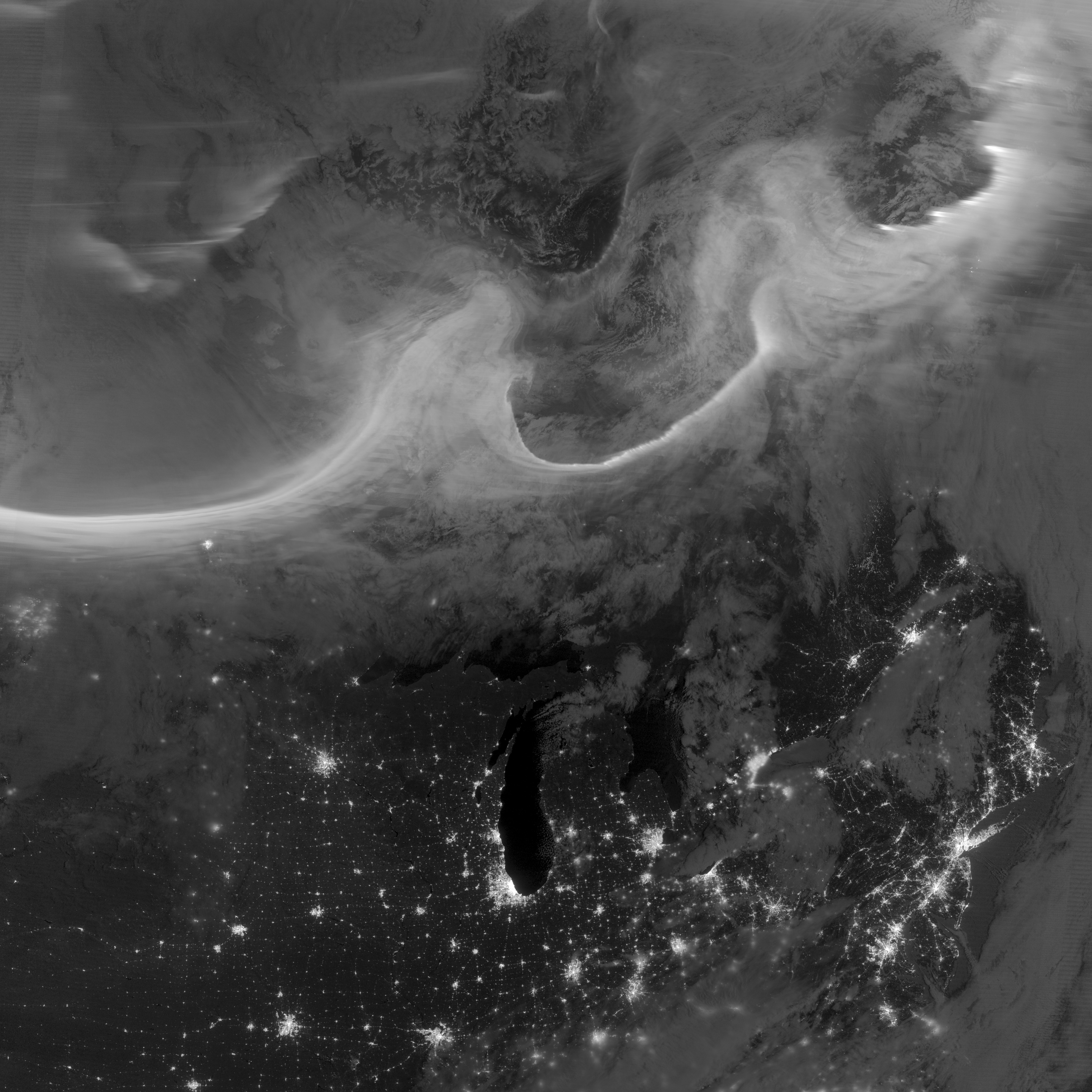 Auroras over North America - related image preview
