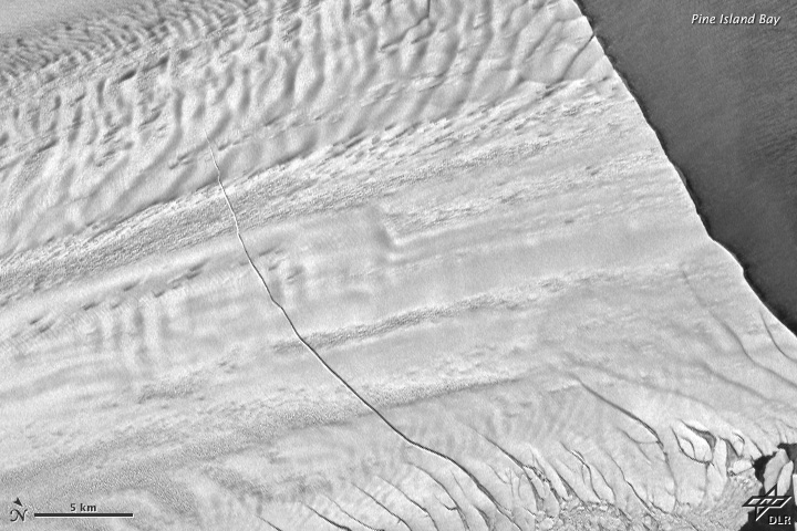 A Growing Rift in Antarctic Ice - related image preview