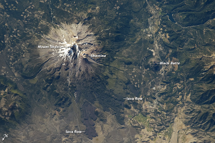 Mount Shasta from the ISS.