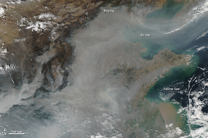 Haze over Eastern China