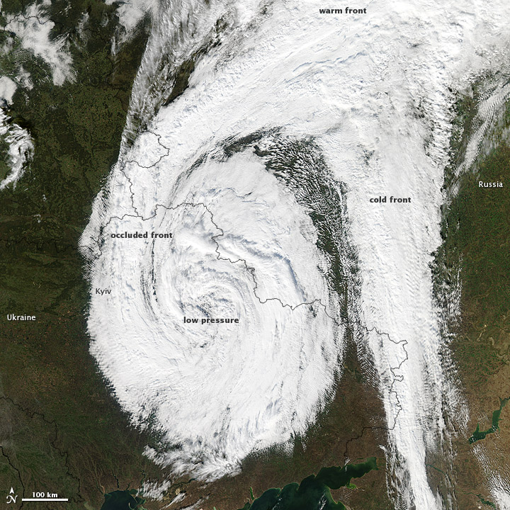Low-Pressure System over Eastern Europe