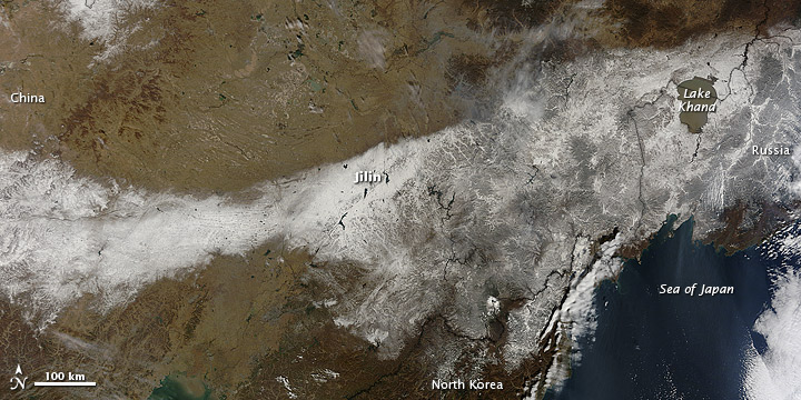 Snow in Northeastern China