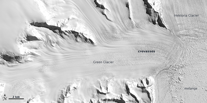 Thinning at Hektoria and Green Glaciers