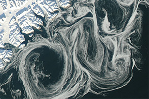 Swirls along an Ice Highway