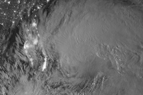 Hurricane Sandy at Night - selected image