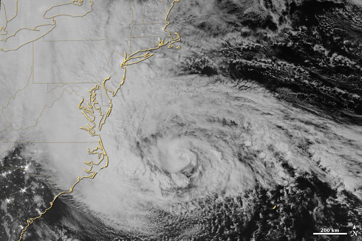 Overnight View of Hurricane Sandy
