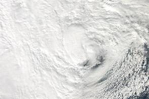 Hurricane Sandy Shortly Before Landfall