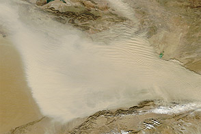 Dust Storm in Western China