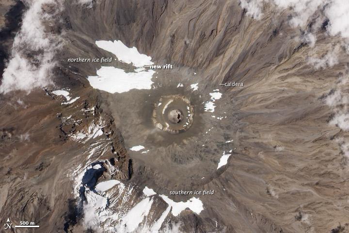 Kilimanjaro's Shrinking Ice Fields