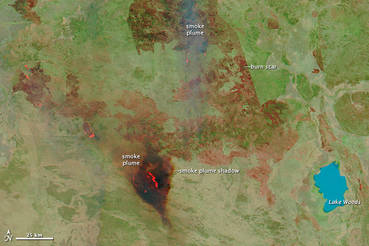 Two Views of Australian Wildfires