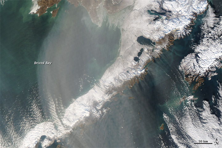 Dust over Southwestern Alaska