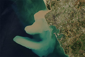 Sediment Plume along the Coast of Spain