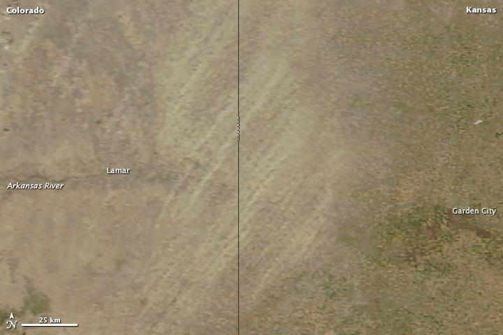 Dust Storm along the Kansas-Colorado Border