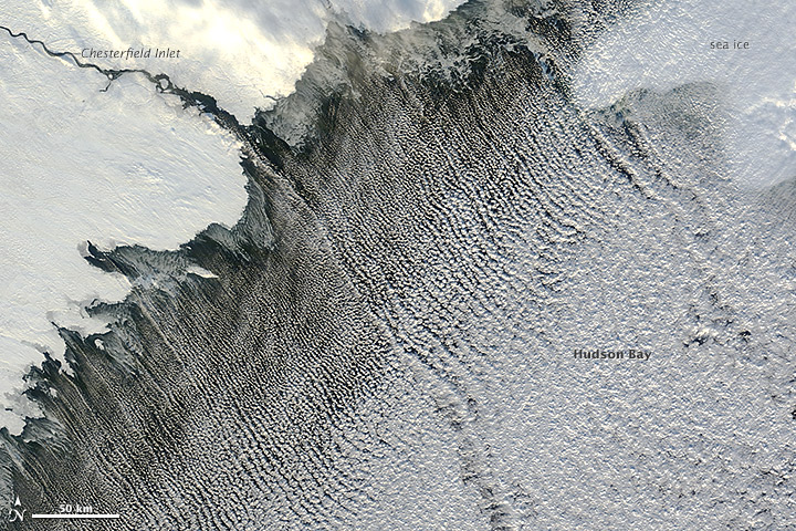 Cloud Streets over the Hudson Bay