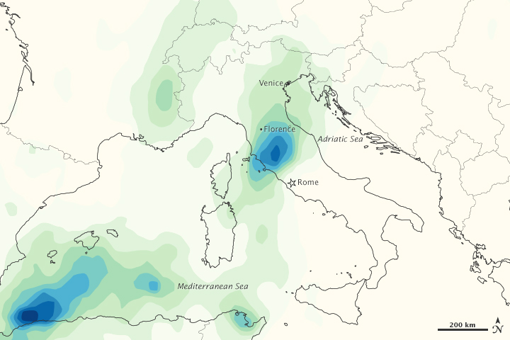 Heavy Rains in Northern Italy