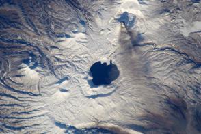 Ashfall from the Karymsky Volcano