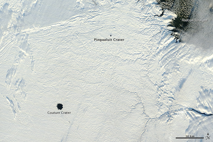 Ice-Free Crater Lakes on Ungava Peninsula