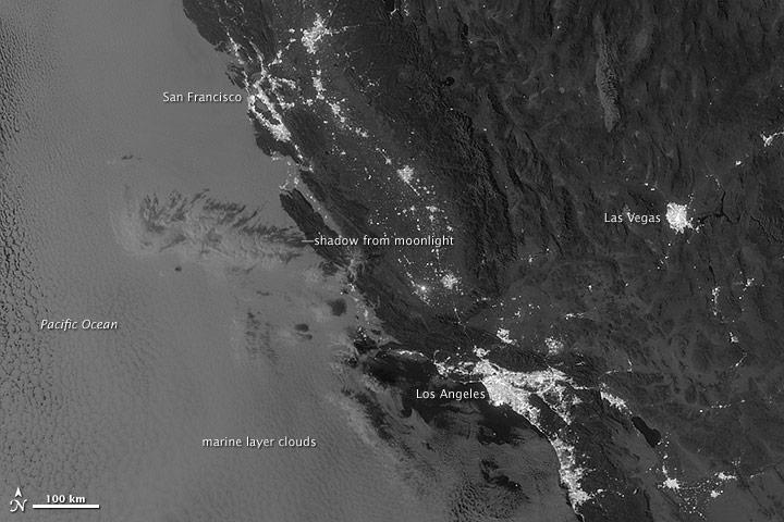 Marine Layer Clouds off the California Coast