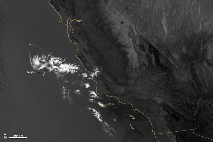 Marine Layer Clouds off the California Coast