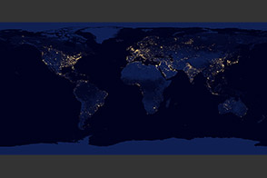 Night Lights 2012 Map