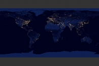 Night Lights 2012 - Flat map