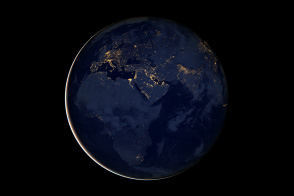 City Lights of Africa, Europe, and the Middle East - selected image