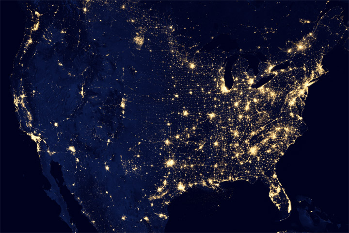 City Lights of the United States 2012 - related image preview