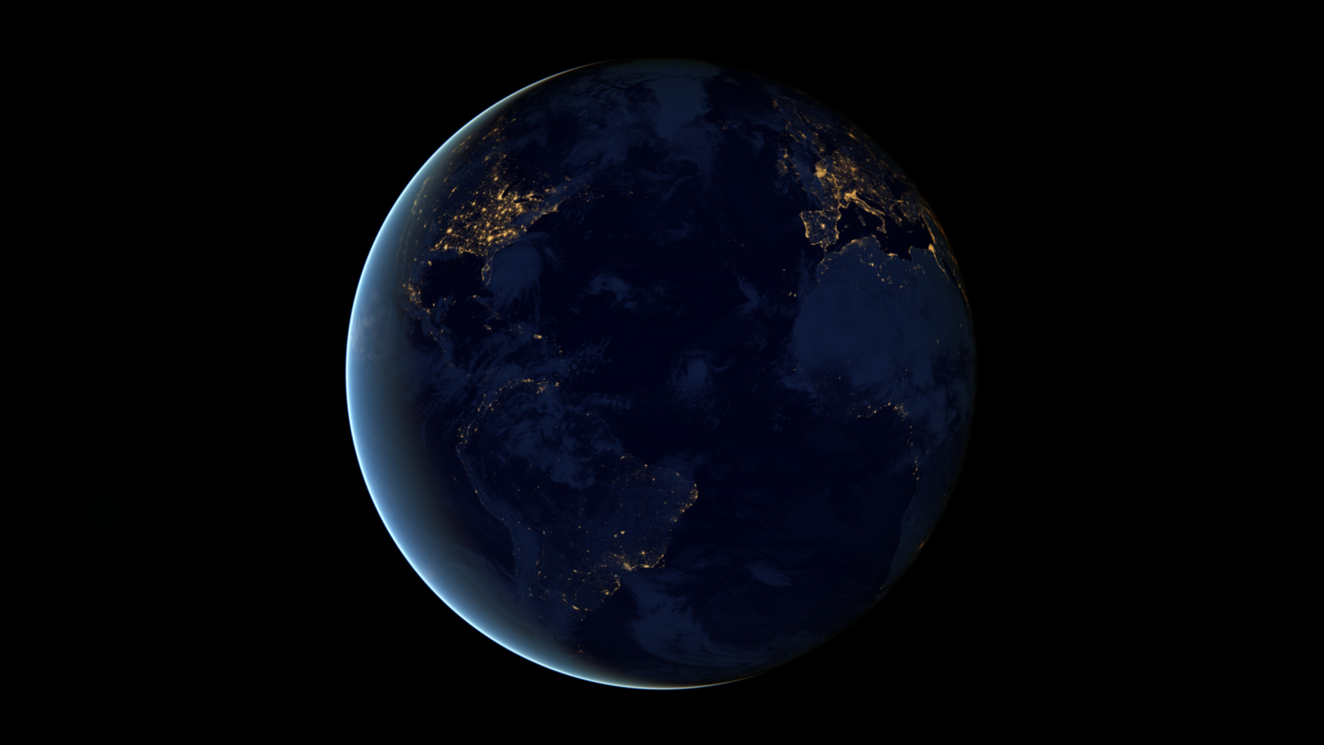 earth horizon nasa night-#33
