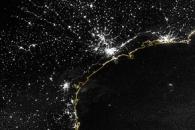 City Lights of South America's Atlantic Coast