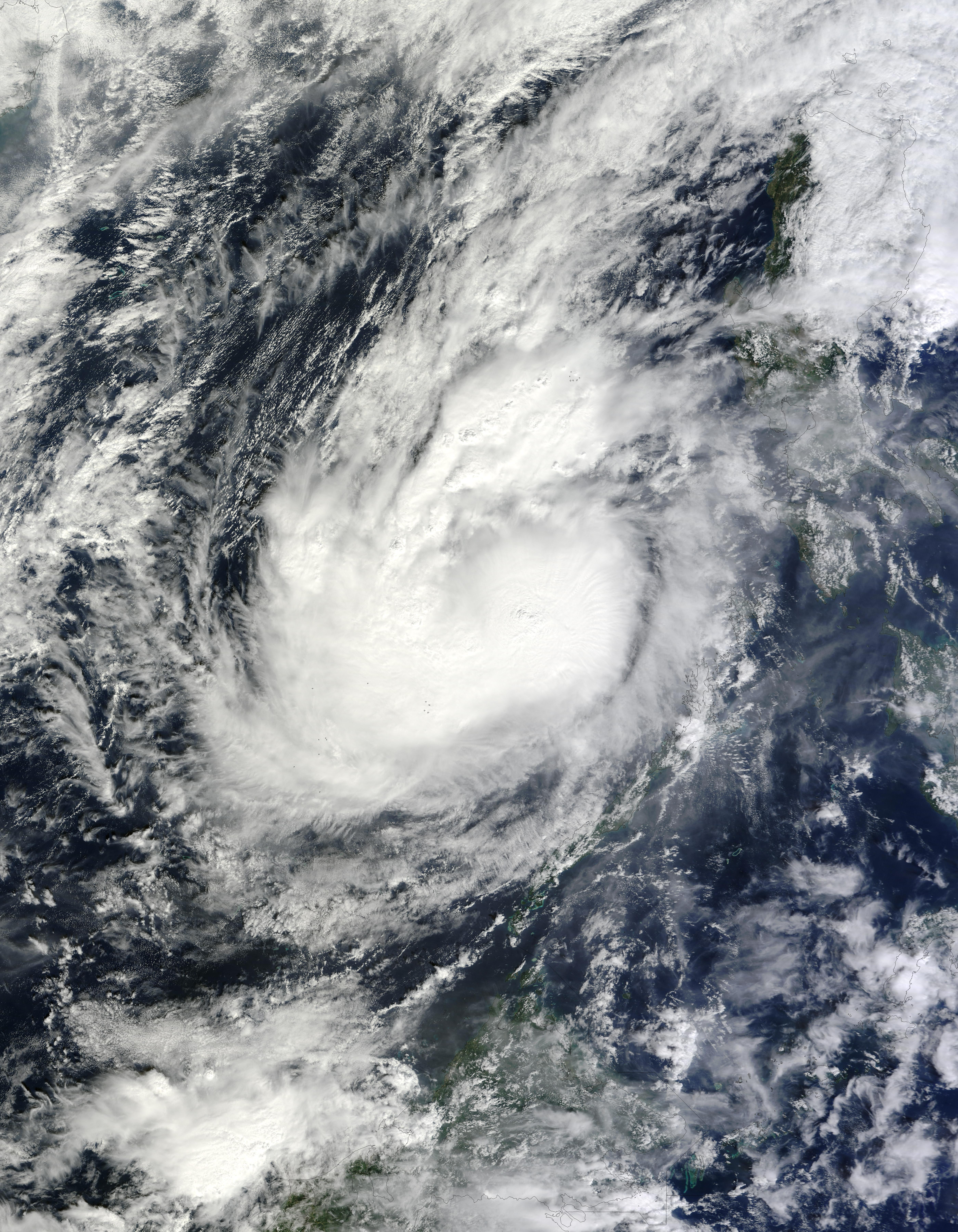 NASA Visible Earth: Bopha over the South China Sea