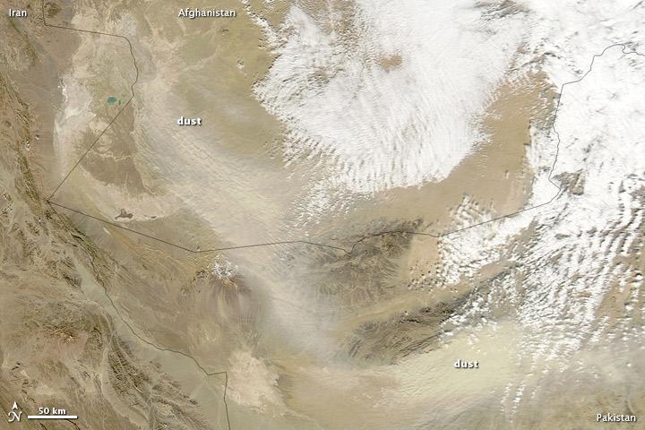 Dust Storm in Southwestern Asia