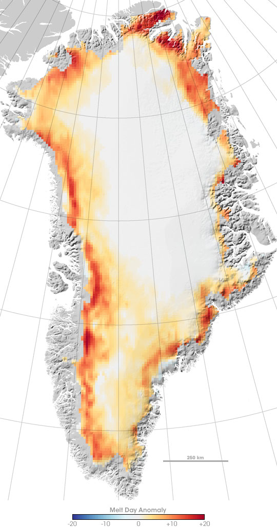 Melting on the Greenland Ice Cap