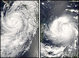 Hurricanes Henriette and Felix