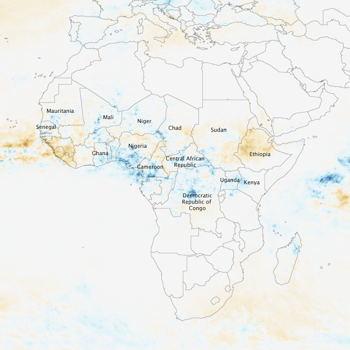 Seasonal Rain Floods Africa's Sahel