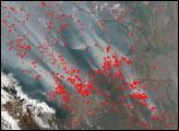 Hundreds of Fires in Bolivia
