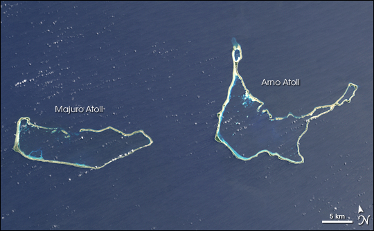 Arno Atoll Marshall Islands Map