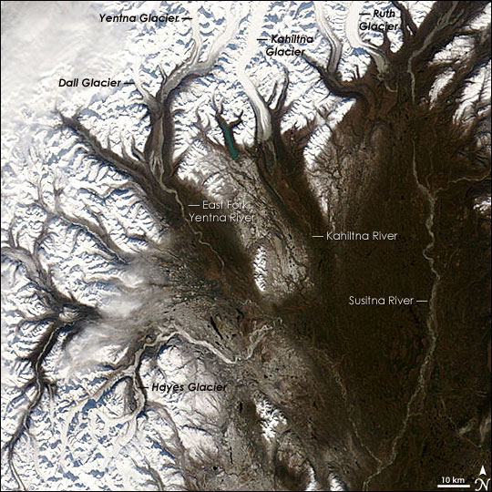Alaska Glaciers and Rivers