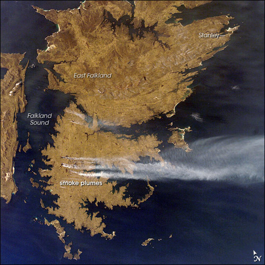 Fires, East Falkland Island, South Atlantic