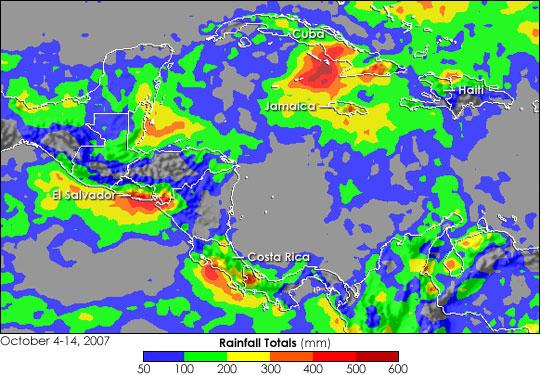Heavy Rain Floods Central America